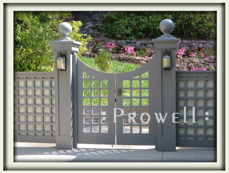 arched wooden gate #13. prowell