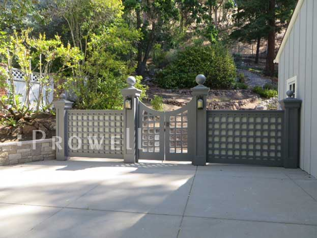 Custom wood fence panel #21 in Contra Costa County, CA