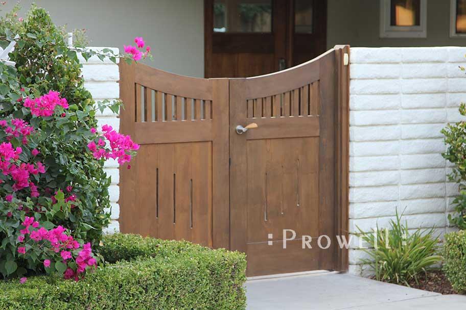 double wood garden gates in Bakersfield, CA