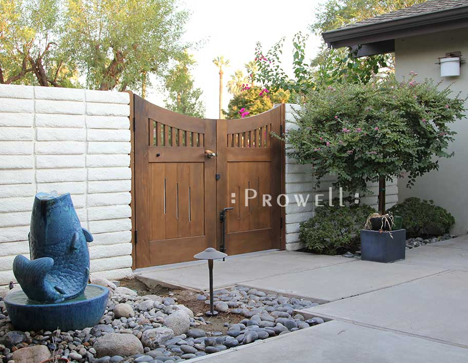 wood double gates in Bakersfield, CA