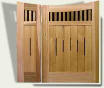 double off-set wood gates #17