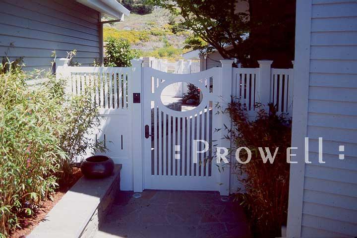custom wood garden gate #2 in Tiburon, CA