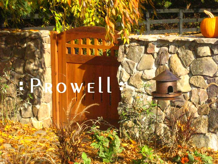 image of curved wooden gate #20 in Virginia