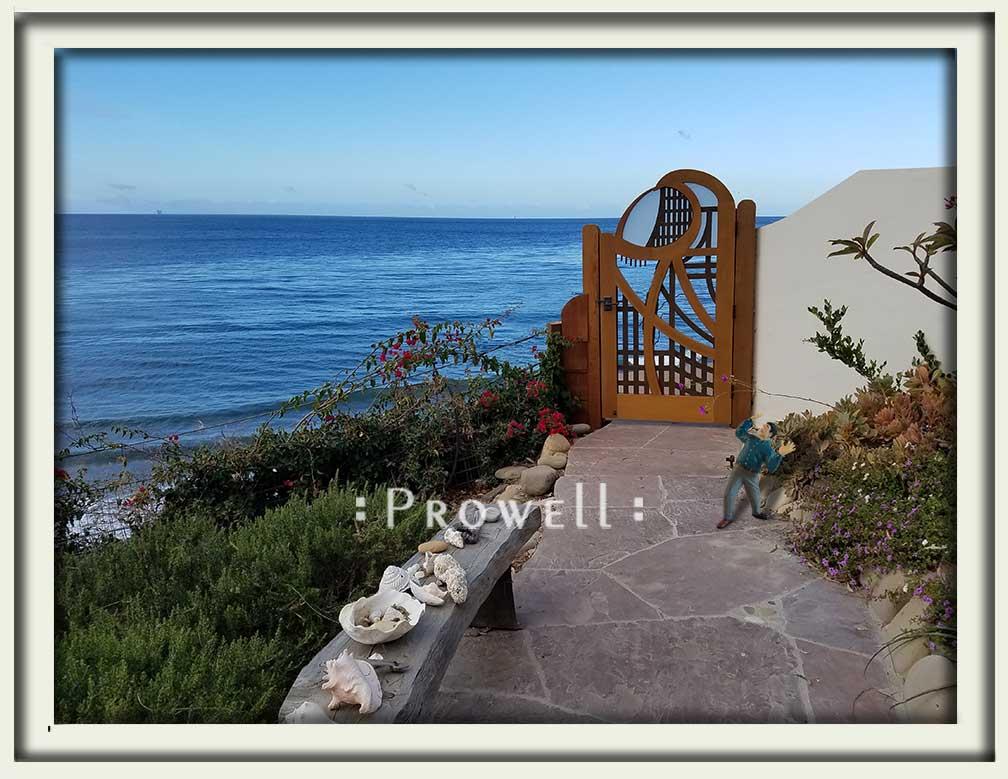 site photograph showing the anstract garden gate designs #200-A in Santa Barbara, California