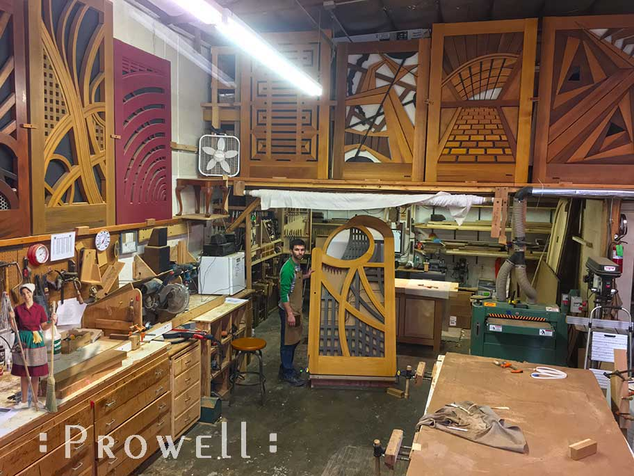 shop photo showing ben the completed abstract garden gate designs #200A