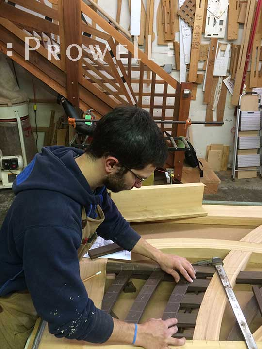 photo of the woodshop on building prowell's contemporary wooden gate #200A