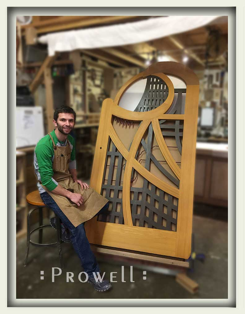 Ben Prowell in the woodshop with gate #200A
