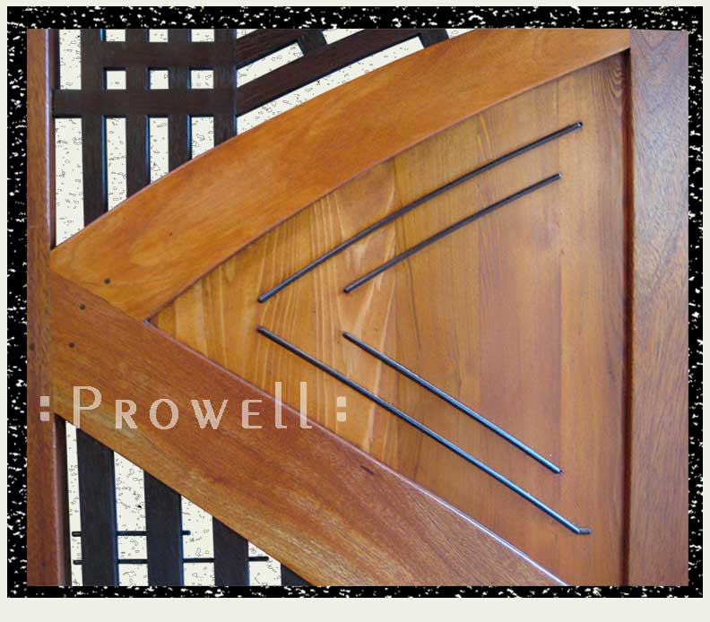 cropped photograph showing the contemporary garden gate 202 wenge beading