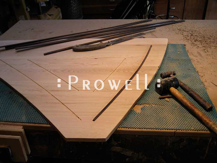 Shop photograph showing how to mill the wenge beading for gate 202