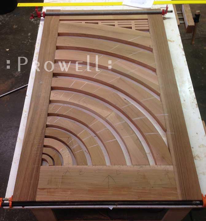 Progress photo showing the spoke-wheel vanishing perspective of #206.