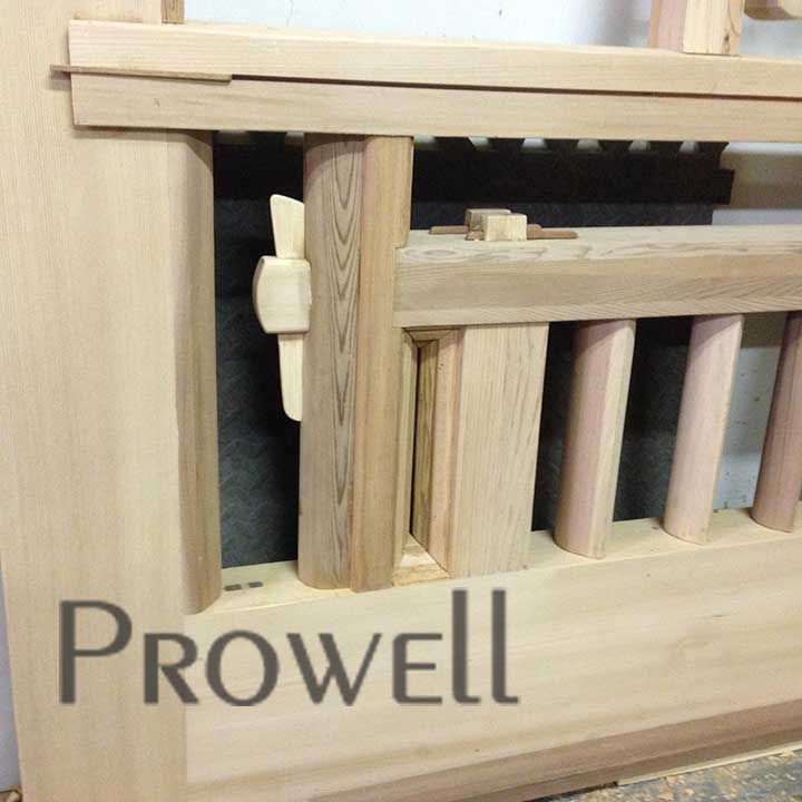 progress photo showing the exposed joinery for the artistic garden gates #208