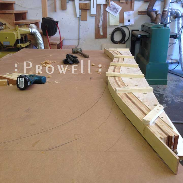 shop progress photograph showing the layout for the exceptional gate #209.