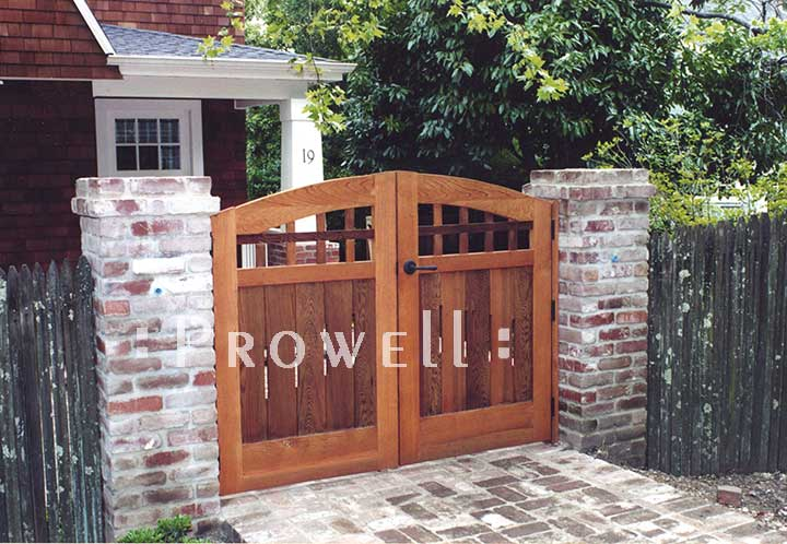 photo of the original arched gate design #20 in Marin county, california