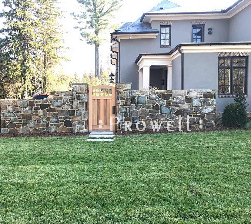 custom wood garden gate #20-24b in Maryland. Prowell