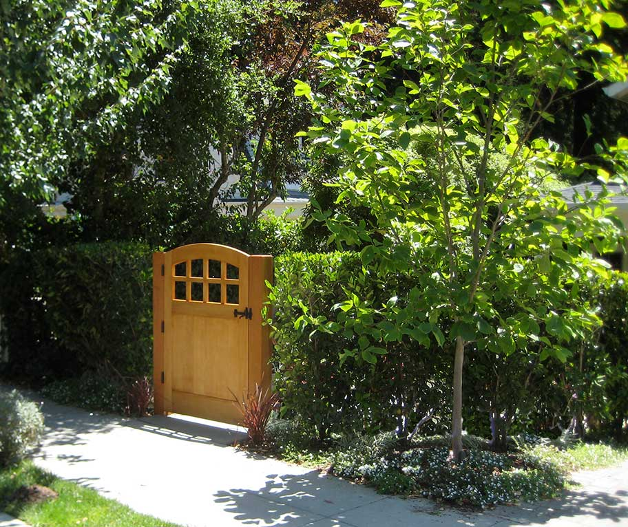 showing garden gate 20-5 in Marin county, california