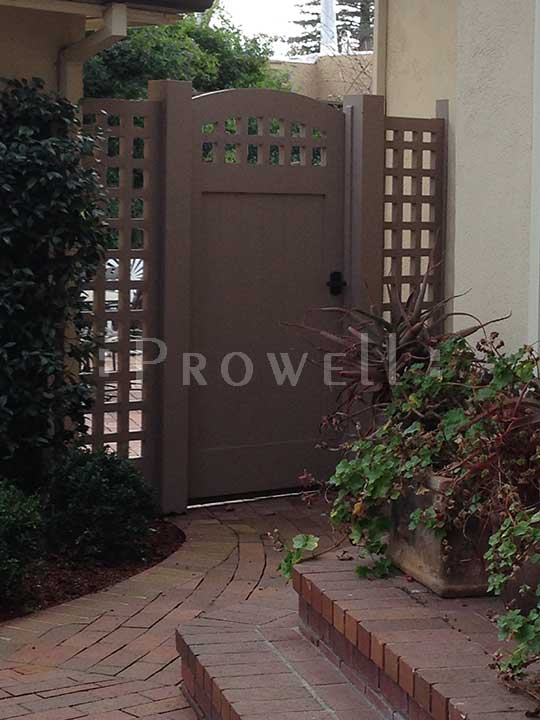 showing the curved gate design 20-9 in Palo Alto, California