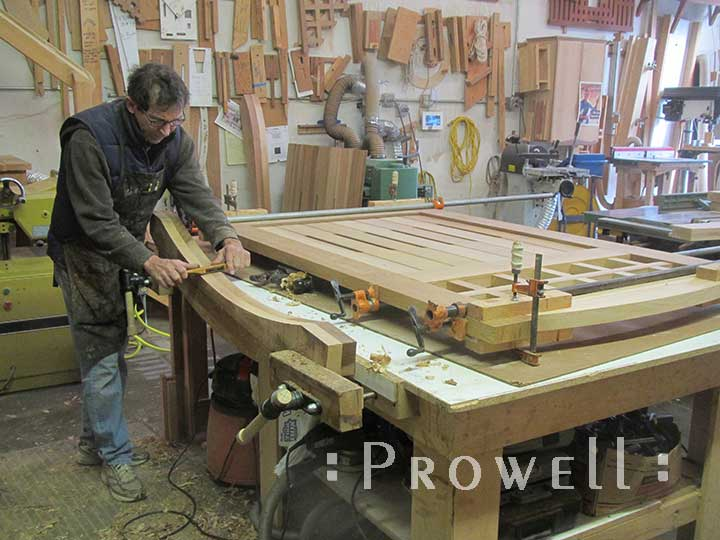 photo showing charles creating an arched gate rail