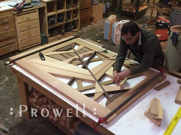 hop progress photograph showing charles fitting the pieces to the modern front gate #210