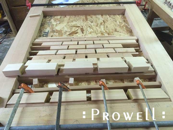 showing a shop progress photo of the trompe l'oeil illusion of gate #211