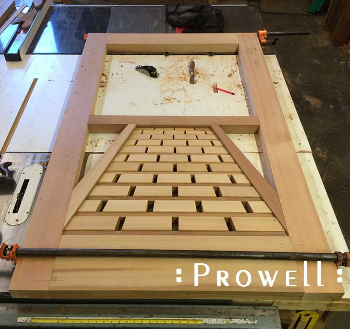 progress photograph in the woodshop of the tromp l'oeil @211