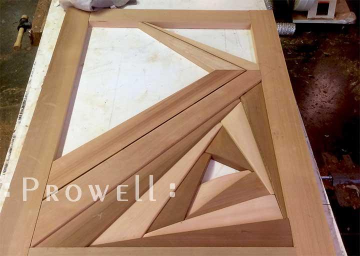 shop progress photograph showing the lower iris fold of #212