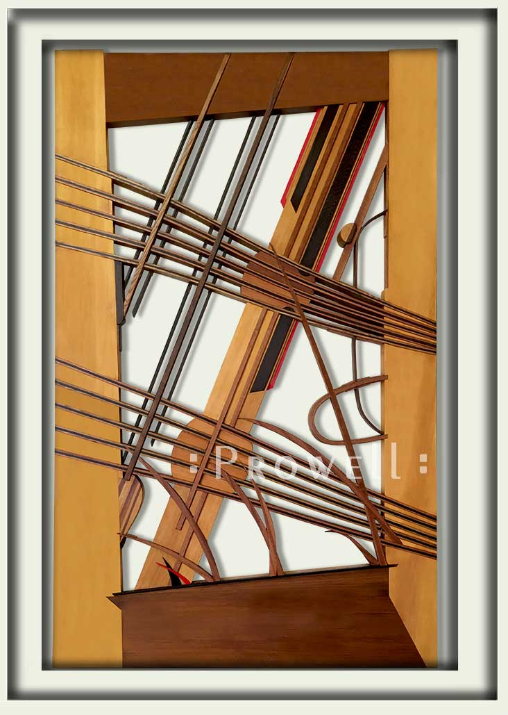 cropped photograph showing the abstract Gate design #213
