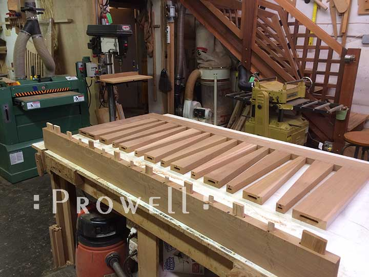 Shop progress photo showing the assembly of how to build the gate design #214