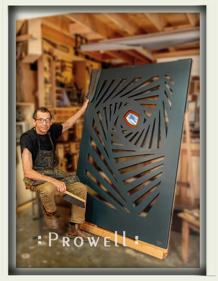 shop photograph with charles prowell and the spirograph garden gate #215d