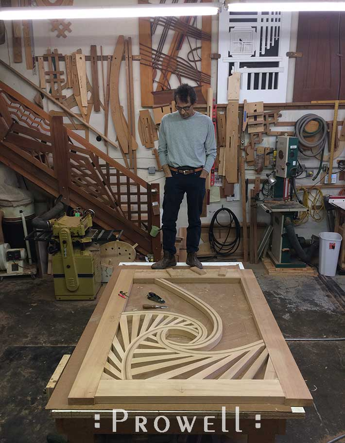 shop progress of the spirograph garden gate #215 with Charles prowell