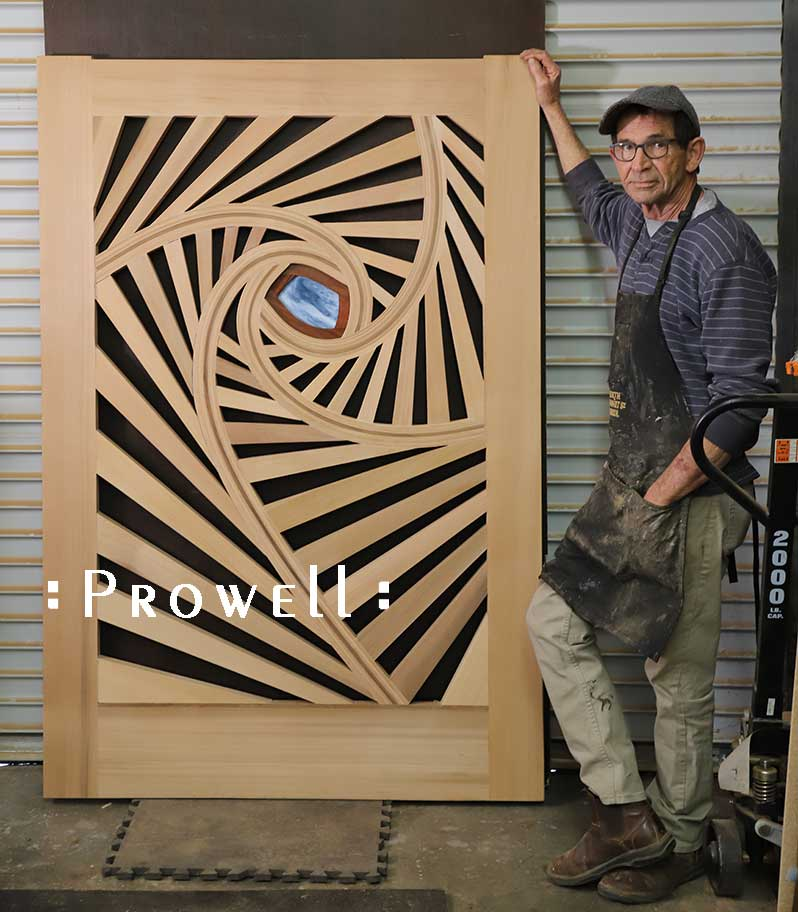 shop progress showing the spirograph garden gate with charles.