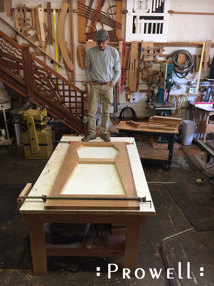 progress photograph showing the early stages of how to build the custom wood garden gate #216