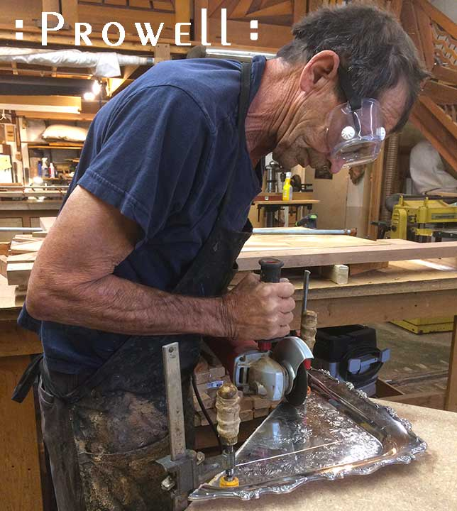 progress photograh in the wood shop on how to build the outstanding gate #217