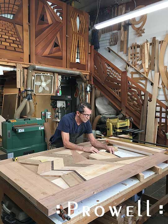 shop progress photograph showing the unique gate design #217