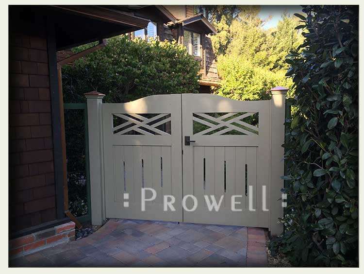 Showing the double colonial gates in Hillsborough, california