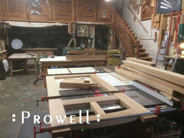 workshop photos of wood gate #23-8 in progress.