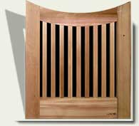 Open Grid Wood Garden Gate #25