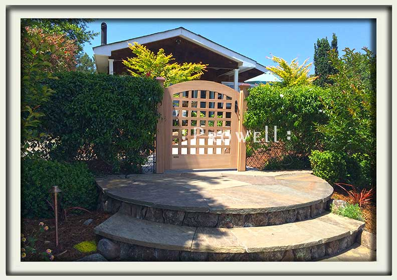 on site photo showing wood gate 27 in marin county, california