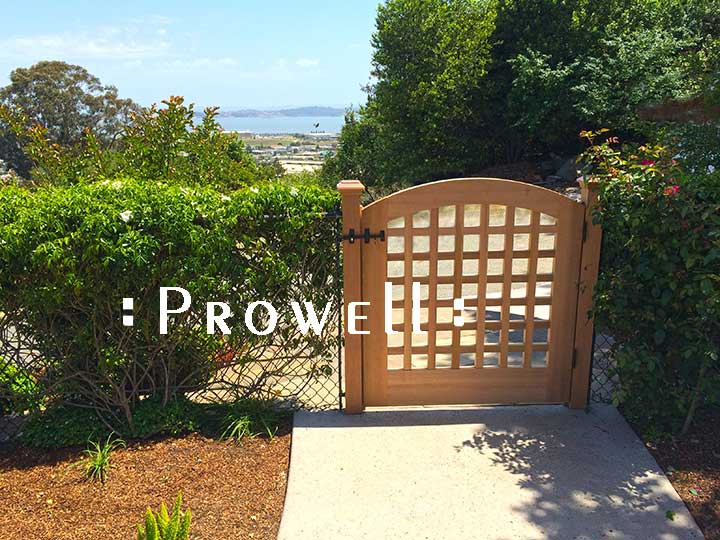 site photo showing the gate overlooking the san francisco bay.