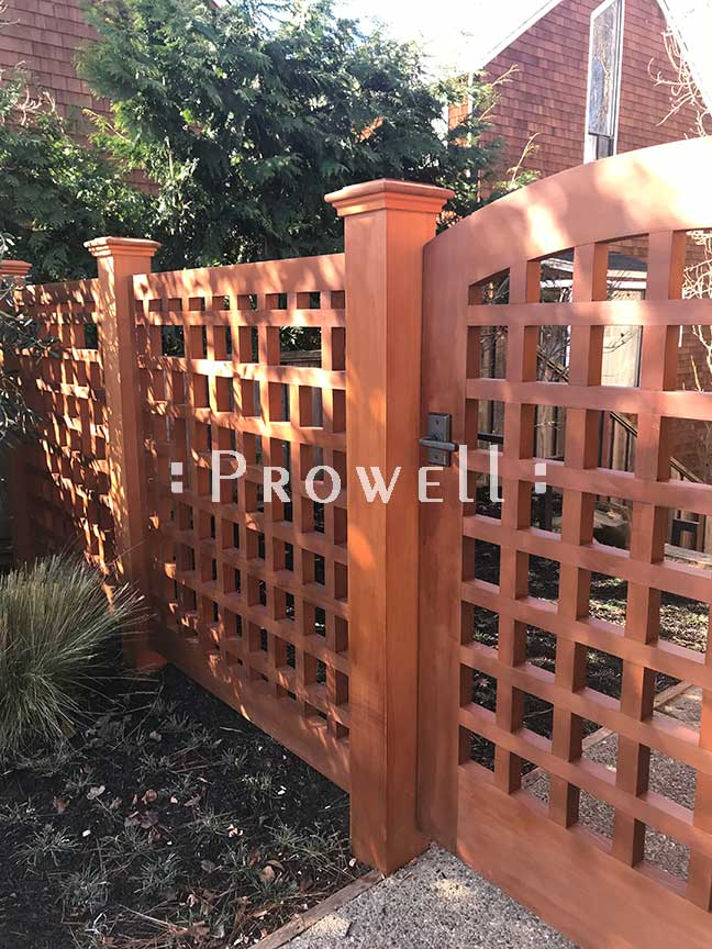 site image showing gate design #27 in Marin County, california