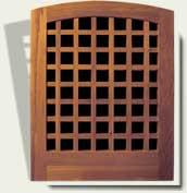 Open Grid Wood Garden Gate #27