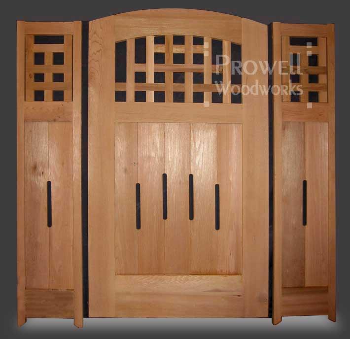 Custom Wood Garden Gate #28