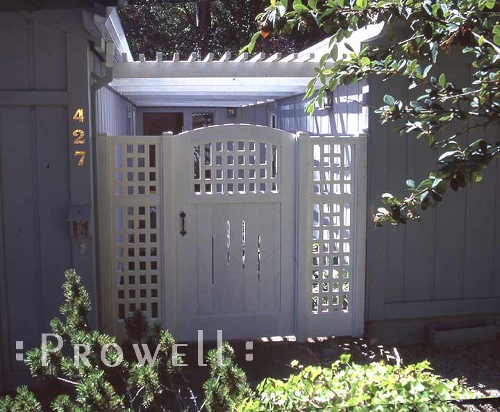 custom wood garden gates #28-3 in Marin