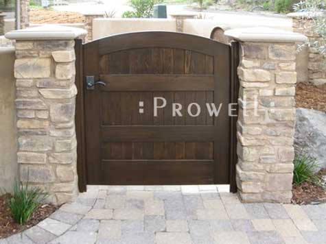 photograph showing Wood Privacy Gate in Pismo Beach, california