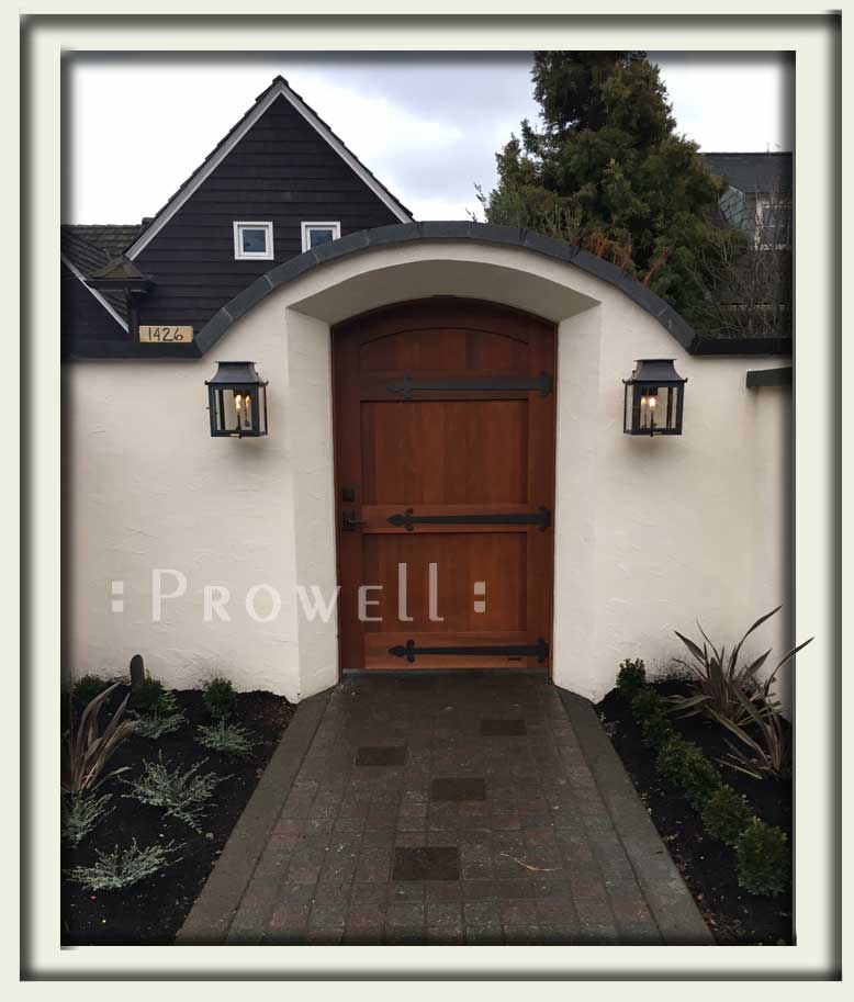 on site photograph showing wood gate door 29-18 in Seattle