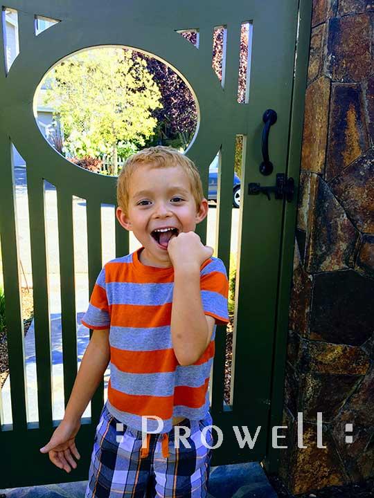 Custom Wood Garden Gate #2 in Marin County, CA. Prowell woodworks