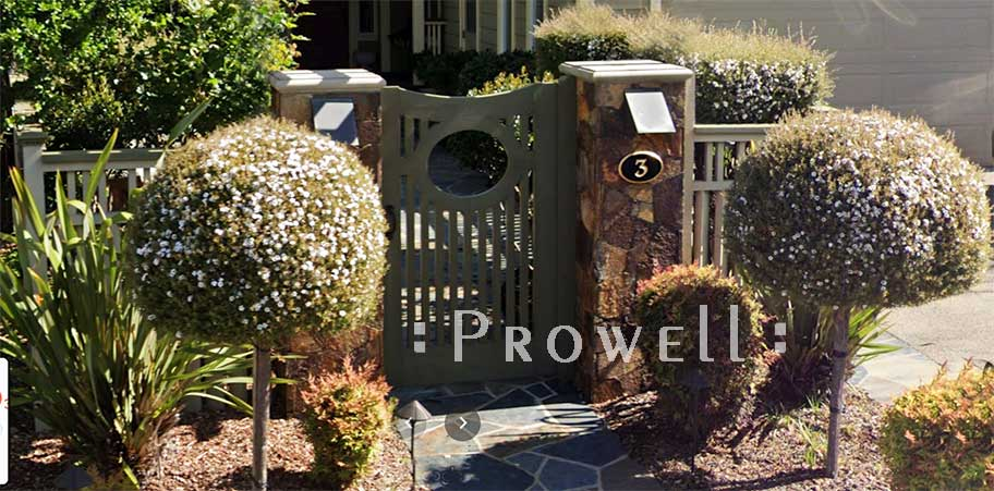 wood garden gate #2-13a in Marin county, CA