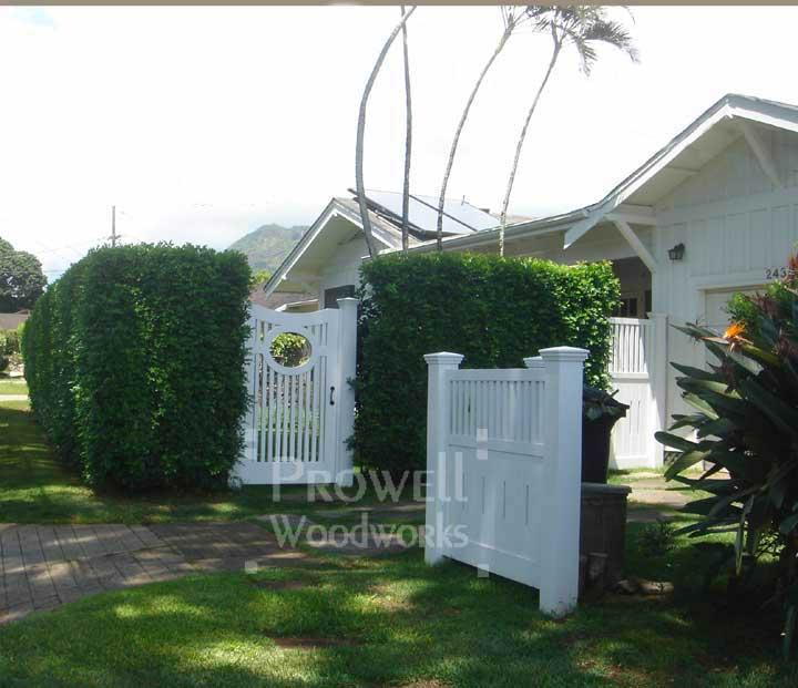 Wood Garden Gate #2-2 in Hawaii