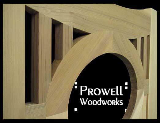 wood oval gate