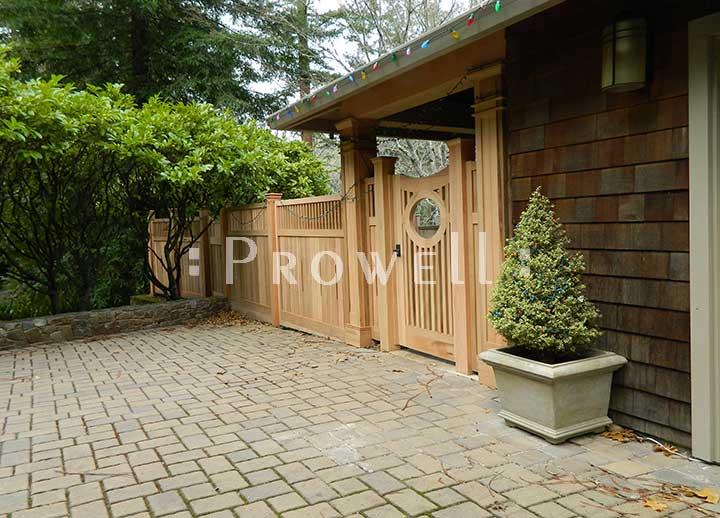 wood gate design #2-9