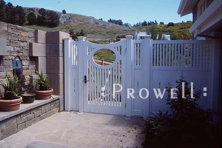 white wood garden gates #2 in Marin county, CA